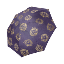 Purple Tudor Rose Umbrella Foldable Umbrella