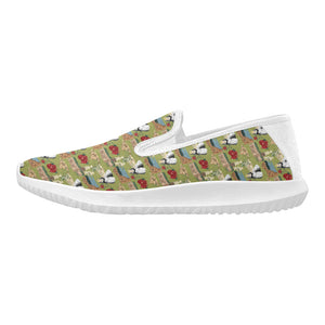 Catherine of Aragon casual sneakers Orion Slip-on Women's Canvas Sneakers (Model 042)