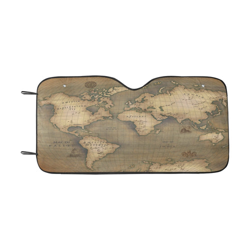 Old Map Car Sunshade (55