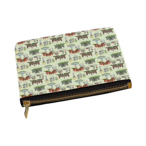 Anne Boleyn's Homes and a Summer English Garden Carry-All Pouch 12.5''x8.5''