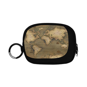 Old Map Coin Purse