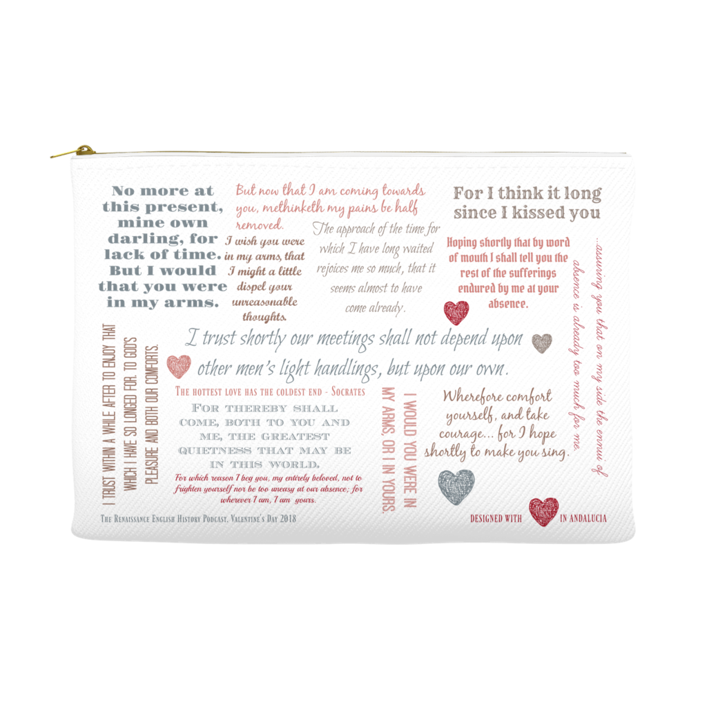 The Henry and Anne Love Letter Accessory Bag - Limited Edition Design, Valentine's Day 2018