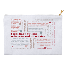 "Elizabeth I ""I will have but one Mistress and no Master"" Accessory Pouch"