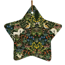 Medieval Unicorn Tapestry Porcelin Ornaments