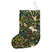 The Medieval Unicorn Tapestry Christmas Stocking