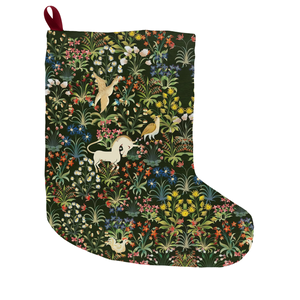 Medieval Unicorn Pattern Christmas Stocking