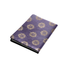 Purple and gold roses B5 size custom notebook