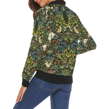 Medieval Unicorn Jacket All Over Print Bomber Jacket for Women (Model H19)