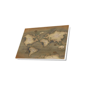 "Old Map Canvas Print 18""x12"""
