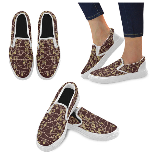 Anne Boleyn Portrait Pattern Women's Slip-on Canvas Shoes
