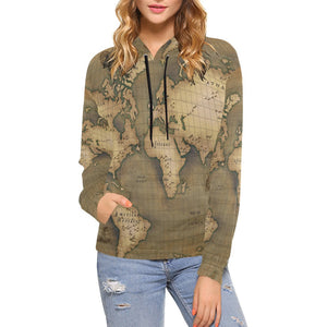 Old Map Hoodie for Women