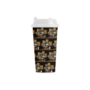 Six Wives Portrait Double Wall Plastic Travel Mug