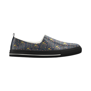 Elizabeth I Signature Low Flat Slip-on Microfiber Women's Shoes