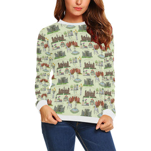 Anne Boleyn's Homes and a Summer English Garden Sweatshirt for Women
