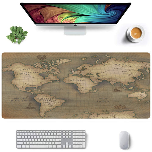 Old Map Extra Large Rectangle Mousepad (35