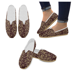 Anne Boleyn Portrait Pattern Women's Casual Shoes