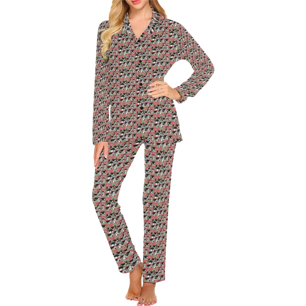 Medieval Village Women's Long Pajama Set