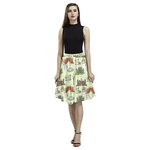 Anne Boleyn's Homes and a Summer English Garden Melete Pleated Midi Skirt