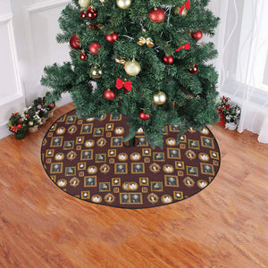 "Kickass Tudor Women Tree Skirt Christmas Tree Skirt 47"" x 47"""