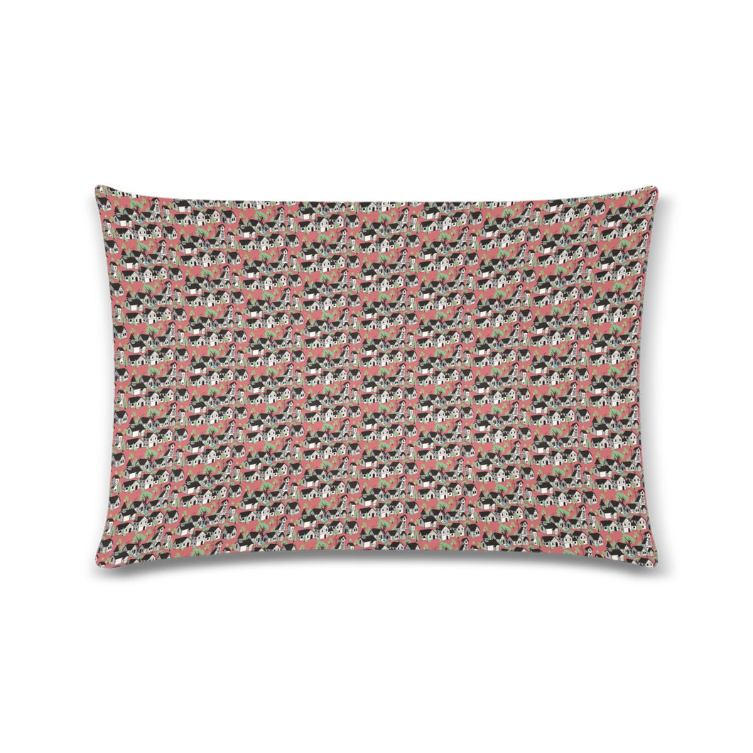 Medieval Village Zippered Pillow Case 16