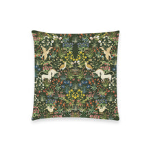 "Medieval Unicorn Tapestry Pillowcase 18""x18"" (one side) No Zipper"