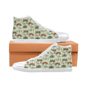 English Garden High Top Chuck Taylors Women's High Top Canvas Shoes