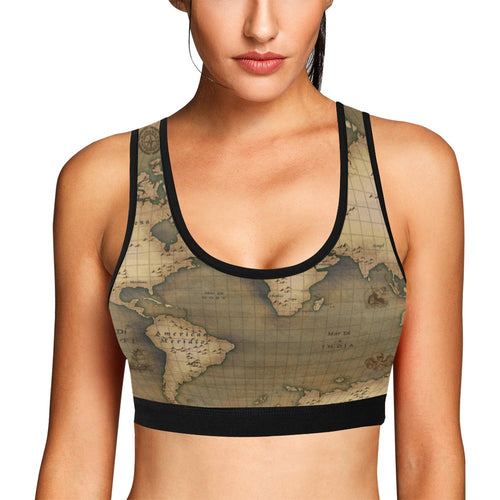 Old Map Sports Bra