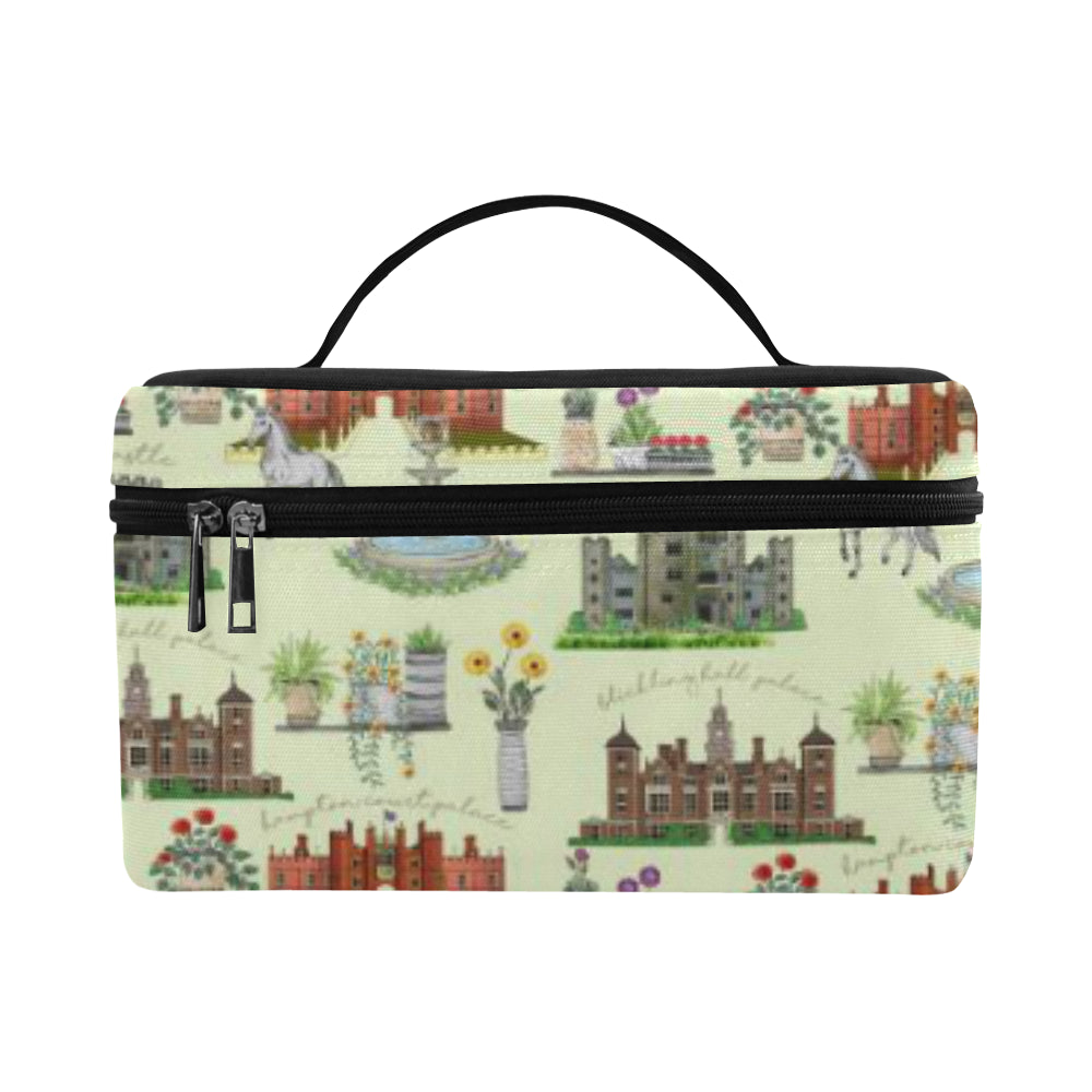 Anne Boleyn's Homes and a Summer English Garden Cosmetic Bag/Large
