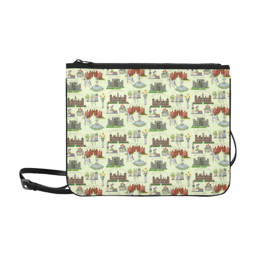 Anne Boleyn's Homes and a Summer English Garden Slim Clutch Bag
