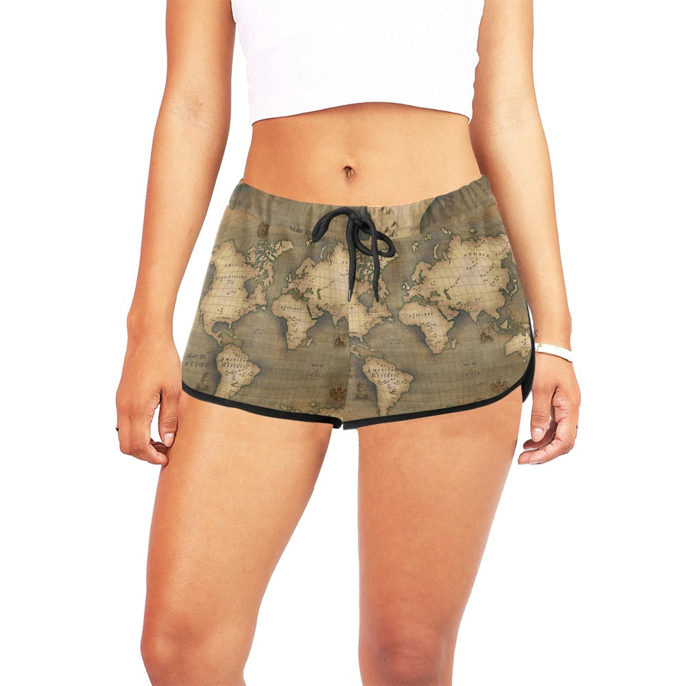 Old Map Women's Relaxed Shorts
