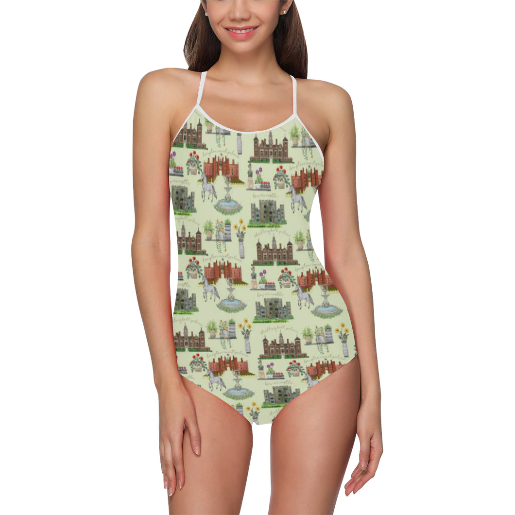 Anne Boleyn's Homes and a Summer English Garden Strap Swimsuit