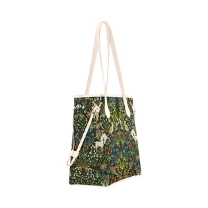 Unicorn Clover Canvas Tote Bag