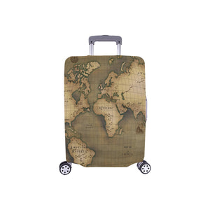 "Old Map Luggage Cover (Small) 18""-21"""