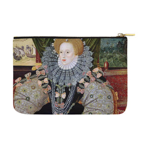 Elizabeth I Pouch large Carry-All Pouch 12.5''x8.5''