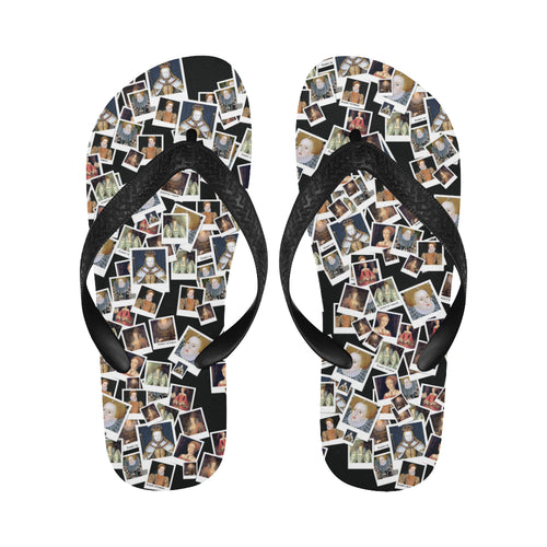 Elizabeth I Portrait Flip Flops for Men/Women