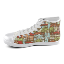 medieval housetop sneakers Women's High Top Canvas Shoes (Model 002)