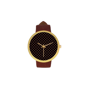 Tudor Rose Women's Golden Leather Strap Watch