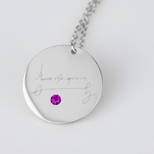Anne Boleyn Signature Stainless Steel Pendant