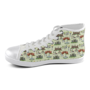 English Garden Women's High Top Canvas Shoes
