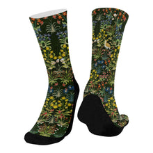 Medieval Unicorn Tapestry Mid Calf Socks
