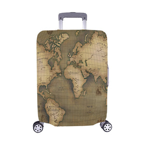 "Old Map Luggage Cover (Medium) 22""-25"""