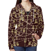Anne Boleyn Full Zip Hoodie for Women