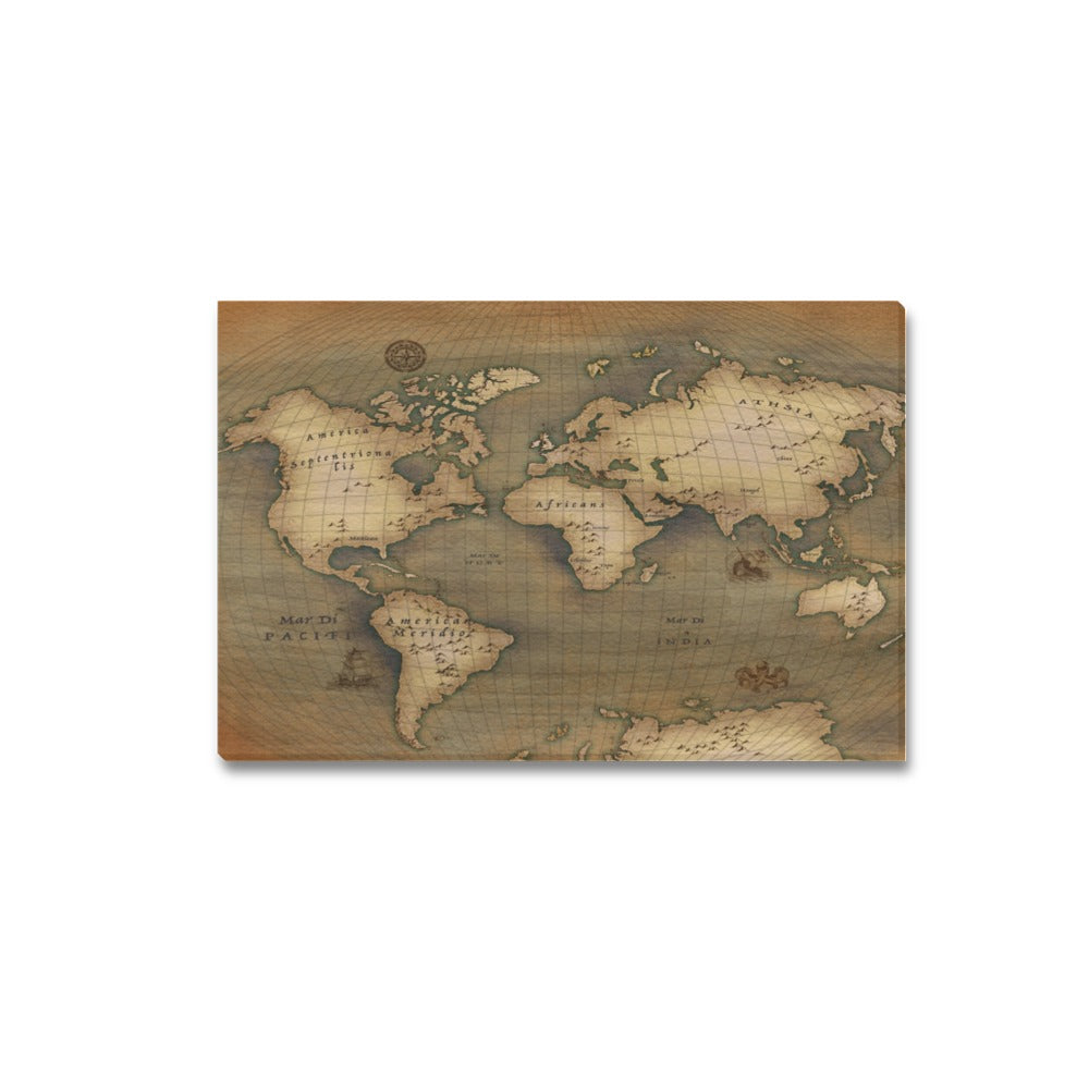 Old Map Canvas Print 18