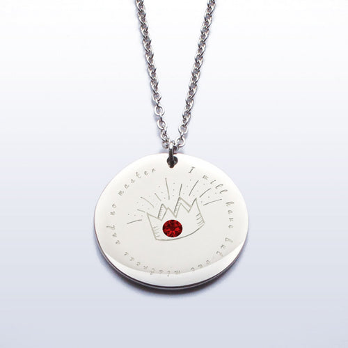 I will have but one mistress and no master - Elizabeth I stainless steel pendant