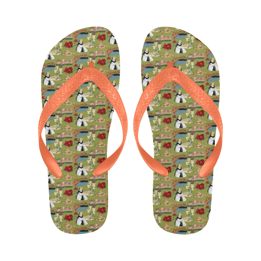 Catherine of Aragon Andalucian Princess Flip Flops for Men/Women