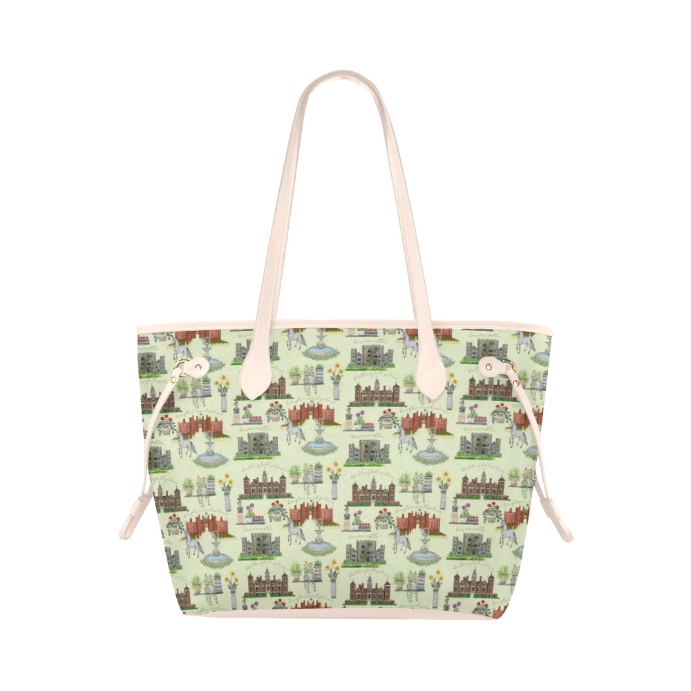 Anne Boleyn's Homes and a Summer English Garden Clover Canvas Tote Bag
