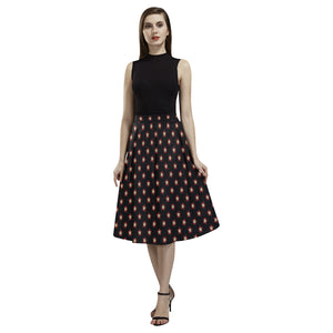 Tudor rose long skirt Aoede Crepe Skirt (Model D16)