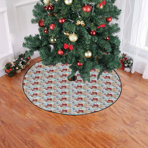 "katherine parr christmas tree skirt Christmas Tree Skirt 47"" x 47"""