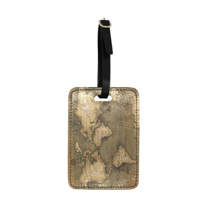 Old Map Luggage Tag