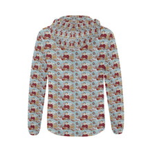 Katherine Parr All Over Print Full Zip Hoodie for Women